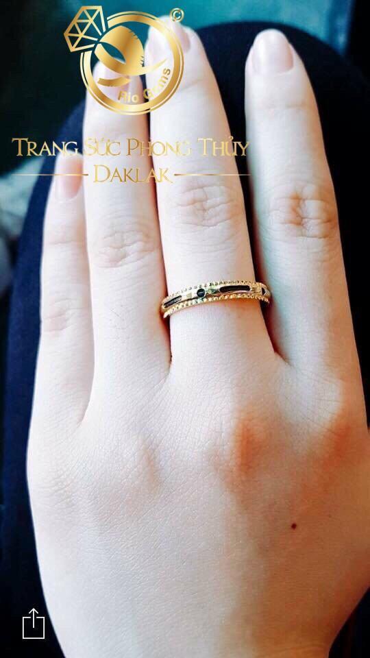 Mẫu nhẫn lông voi nữ xoay giá rẻ