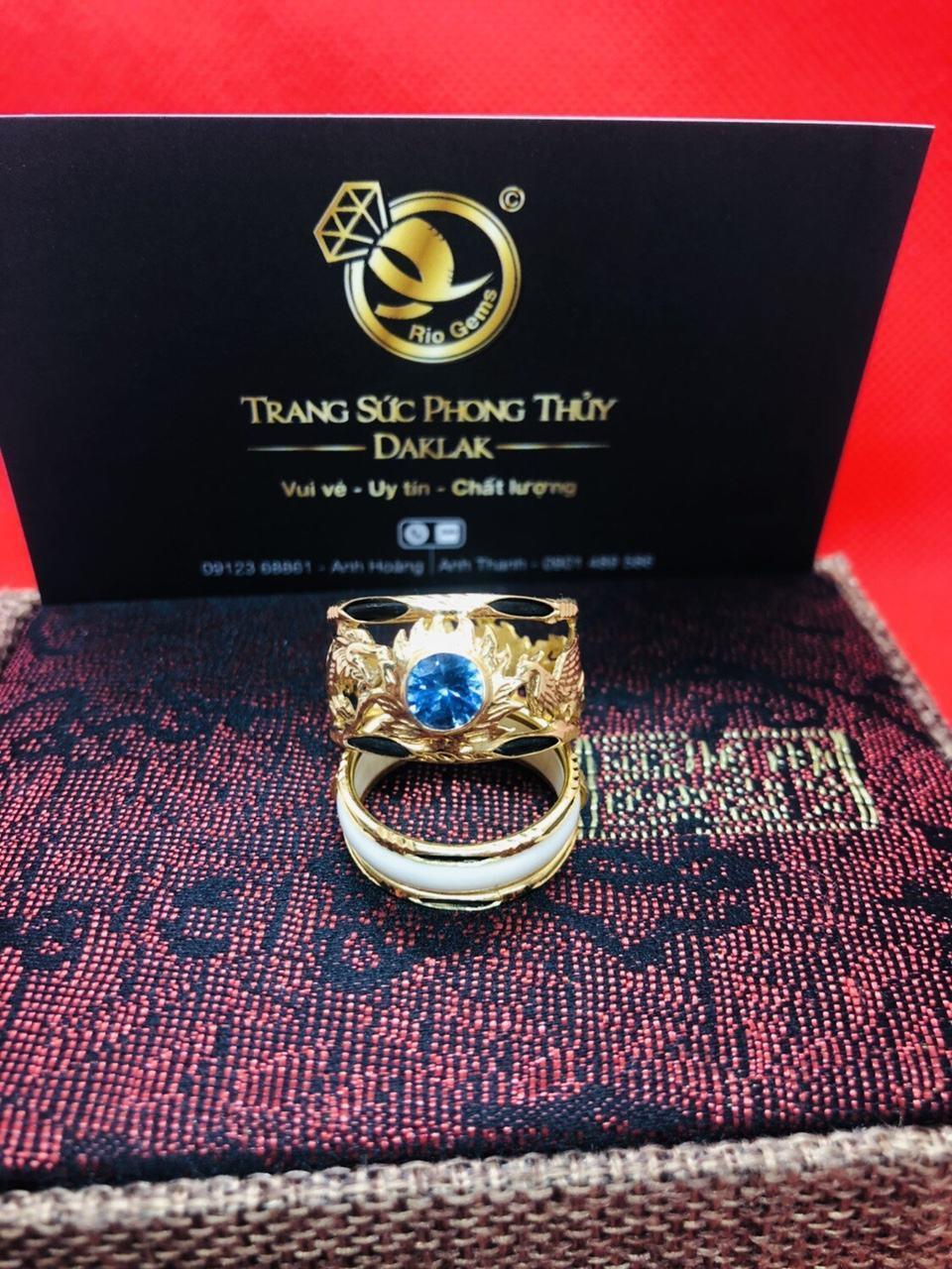 Nhẫn lông voi rồng phượng đính đá siêu rẻ