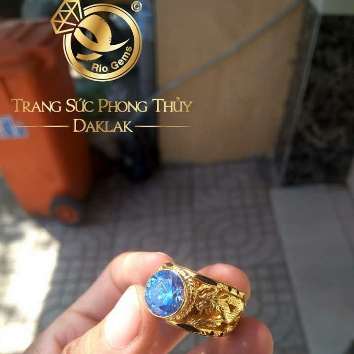 Nhẫn lông voi rồng đá xanh rẻ