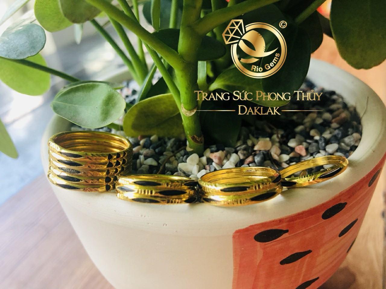 Nhẫn lông voi vàng 10k đơn lông, đôi lông chất lượng