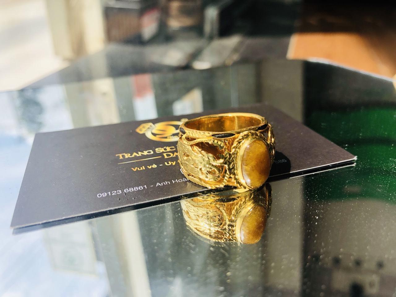 Nhẫn lông voi vàng giá rẻ 2 rồng mới