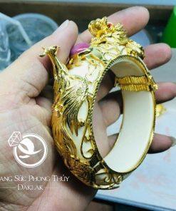 vòng tay rồng phụng ruby