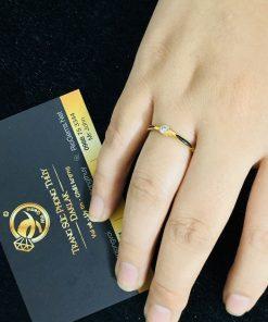 Nhẫn lông voi Công Qua vàng phong thủy Riogems - Nhẫn phong thủy mệnh KIM