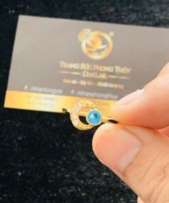 Nhẫn lông voi mặt trăng khuyết ngọc vàng Riogems