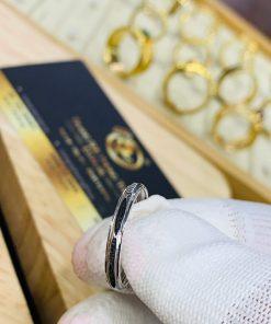 Nhẫn lông voi vàng trắng hiện đại
