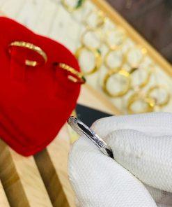 Nhẫn lông voi vàng trắng giá phù hợp