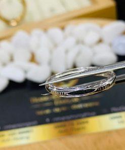 Nhẫn lông voi vàng trắng giá tốt