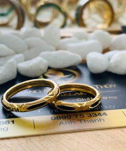 cặp nhẫn lông voi 1 sợi ống vàng 2 li được nhiều người ưa chuộng