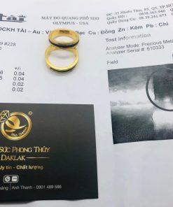 cặp nhẫn lông voi làm tay khắc 2 khía vàng giấy chứng nhận