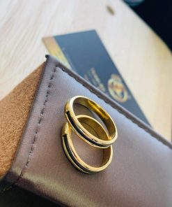 giá thành cặp nhẫn lông voi ngoài 1 sợi làm tay vàng 18K vừa túi