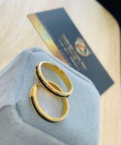 giá thành cặp nhẫn lông voi ngoài 1 sợi làm tay vàng 18K vừa tầm với nhiều cặp đôi