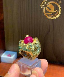 Nhẫn 4 cọp vàng chầu ngọc Ruby giá tốt