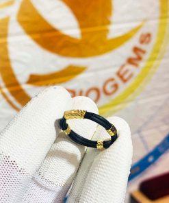 nhẫn 5 lông voi bó vàng 18K GIÁ RẺ Riogems