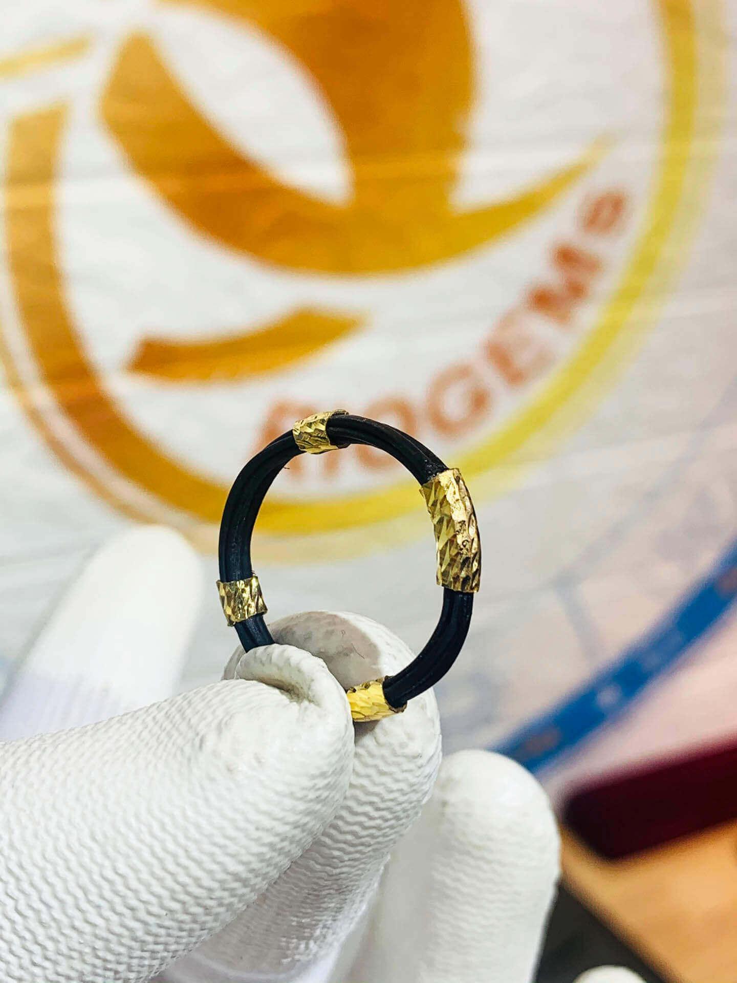 nhẫn 5 lông voi bó vàng 18K GIÁ RẺ hợp mệnh