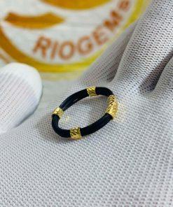 nhẫn 5 lông voi bó vàng 18K GIÁ RẺ do Riogems gia công