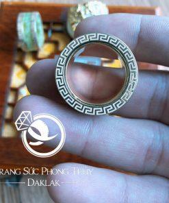 Nhẫn Càn Long Ngọc Bích gia công tinh xảo