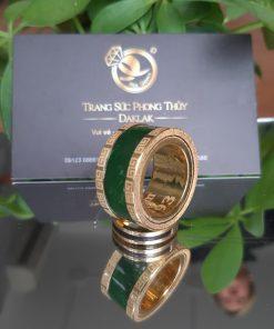 Nhẫn Càn Long Ngọc Bích khắc tên đẹp và sang