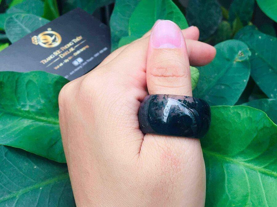 Nhẫn Càn Long Thủy Tảo hợp đeo ngón CÁI loại tốt