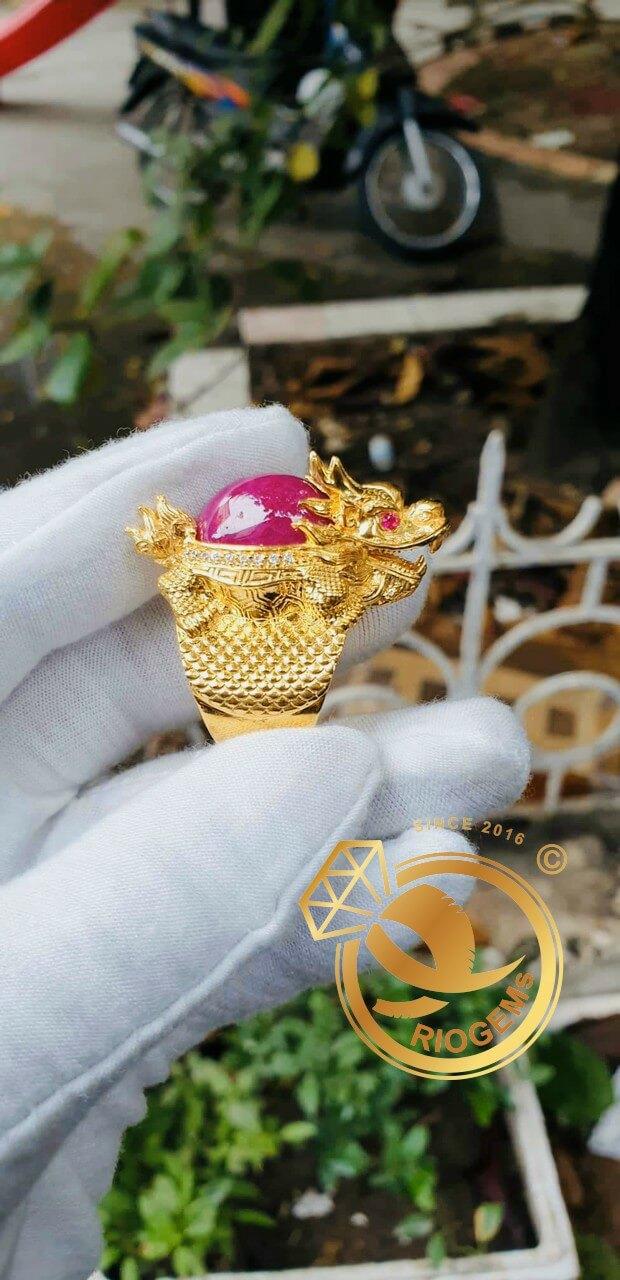 Nhẫn Long Quy Ruby vàng 10K DakLak mang lại nhiều may mắn