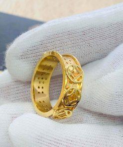 Nhẫn Nam vàng Phúc Lộc Thọ bảo hành tại RIOGEMs