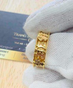 Nhẫn Nam vàng Phúc Lộc Thọ mang lại may mắn