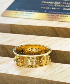 Nhẫn Nam vàng Phúc Lộc Thọ tăng vượng khí