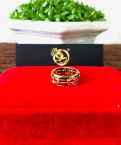 Nhẫn Tài Lộc 5 đồng tiền 3 sợi lông voi - Bảng 9li