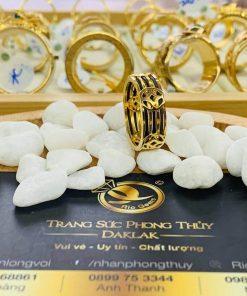 Nhẫn Tài Lộc 5 đồng tiền 3 sợi lông voi chất lượng