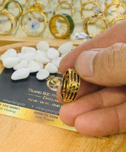 Nhẫn Tài Lộc 5 đồng tiền 3 sợi lông voi