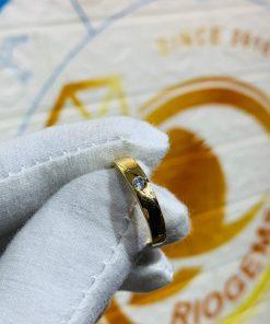 Nhẫn cưới nửa trái tim vàng 18K thiết kế đơn giản