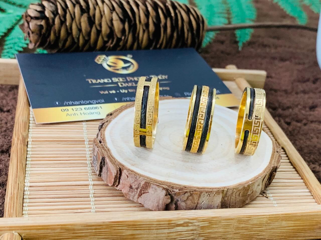 Nhẫn hoa văn 1-2 sợi lông voi bảo hành trọn đời