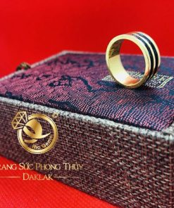 Nhẫn lông voi làm tay 2 sợi (Bảng 9li) được thiết kế bởi Riogems