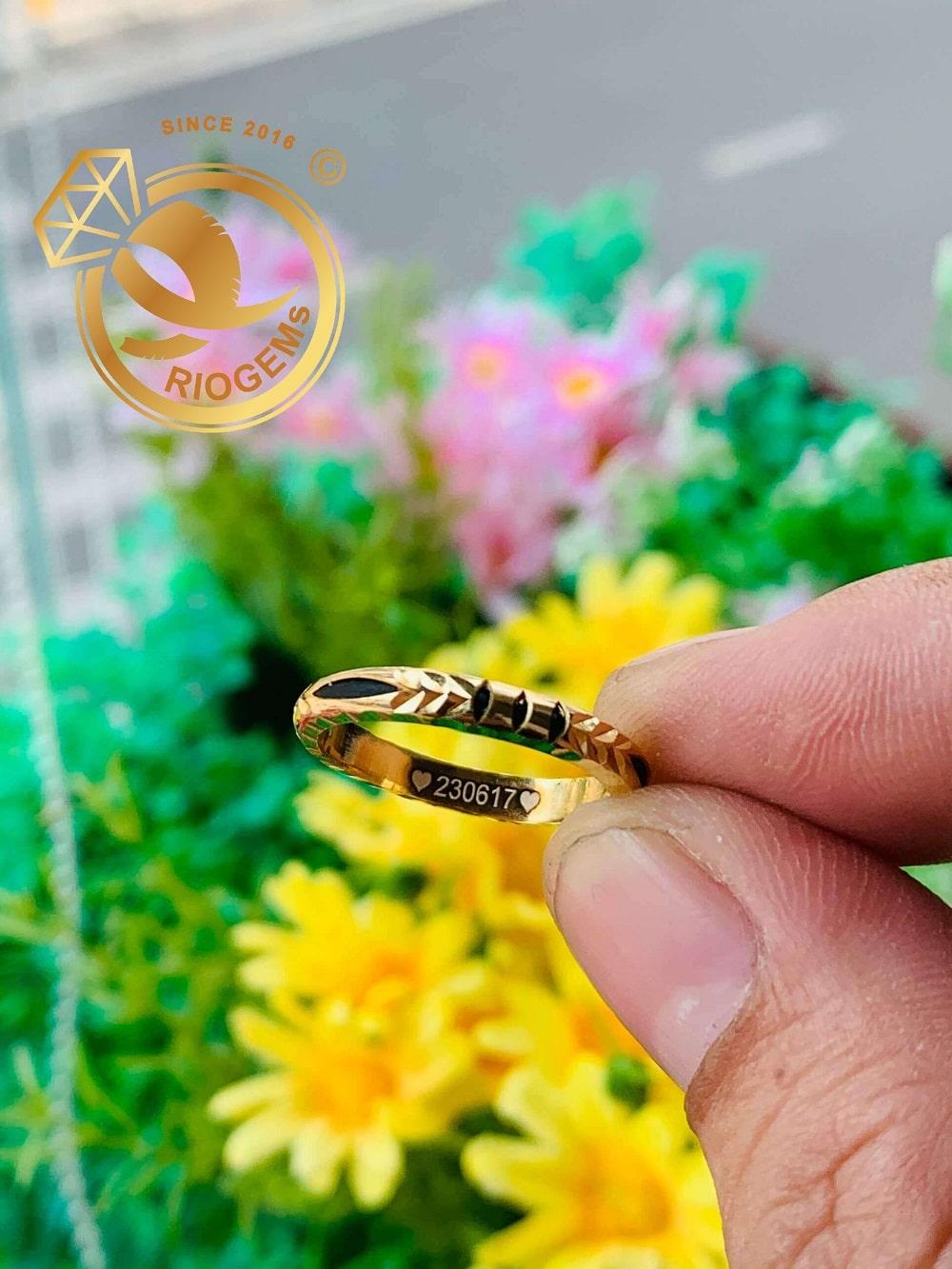 Nhẫn nam nữ luồng 1 lông voi vàng Tây 18K (Lông FAKE) giá trị cao