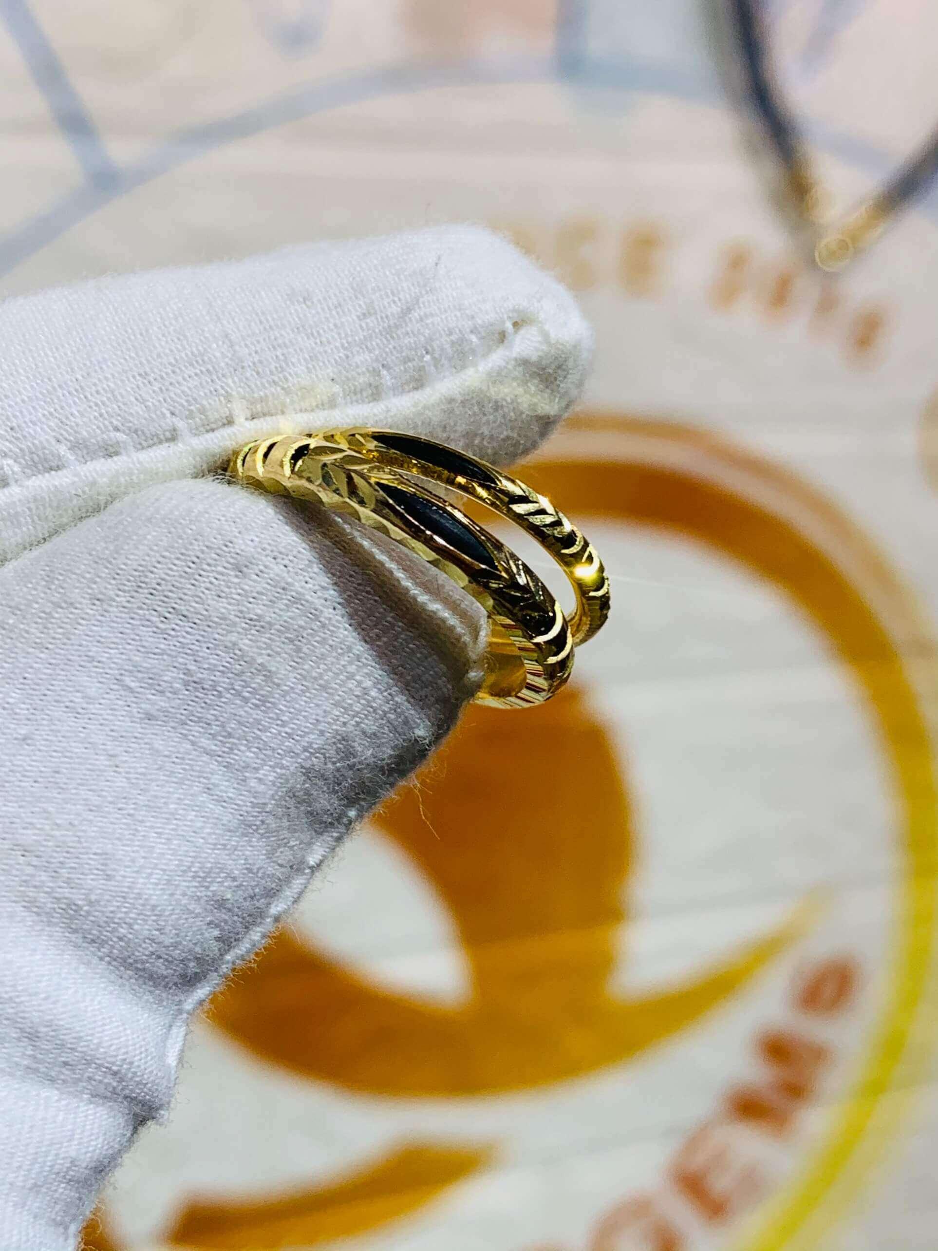 Nhẫn nam nữ luồng 1 lông voi đẹp