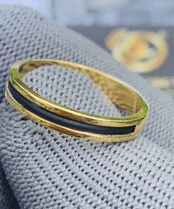 Nhẫn nữ vàng đeo ngón trỏ luồng 1 sợi lông voi Riogems