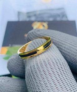 Nhẫn nữ vàng đeo ngón trỏ luồng 1 sợi lông voi đẹp mắt