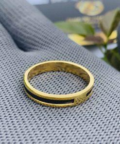 Nhẫn nữ vàng đeo ngón trỏ luồng 1 sợi lông voi do Riogems thiết kế