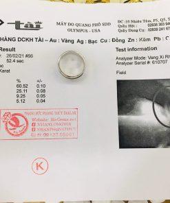 Nhẫn vàng Trắng luồng lông voi trắng – đen Thái Lan có giấy chứng nhận