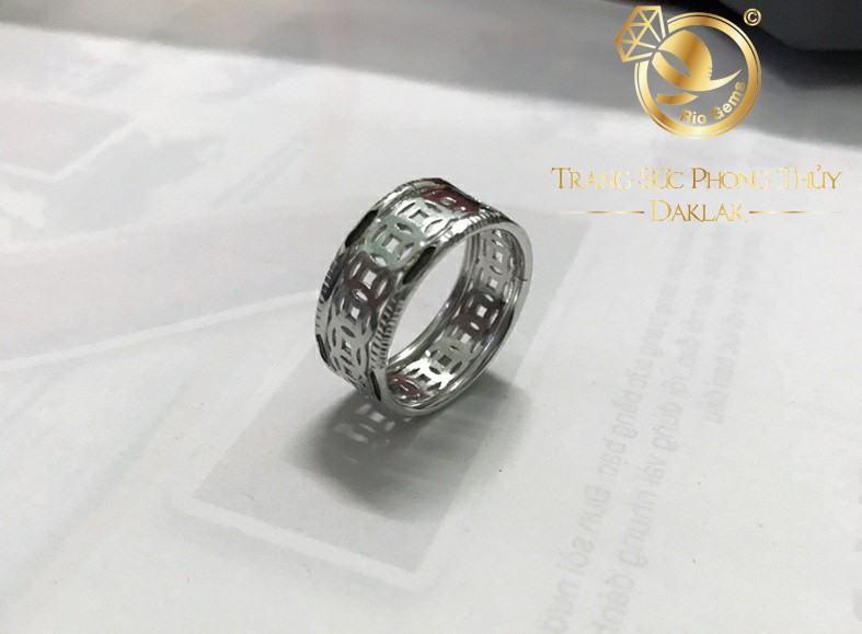 Nhẫn kim tiền bạc 925 thiết kế đơn giản