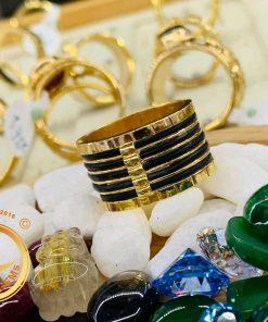 Nhẫn nam 5 sợi vàng 18K đeo ngón cái (lông FAKE) sang trọng, thời thượng