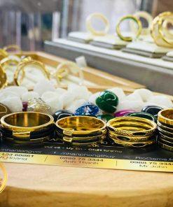 Nhẫn nam 5 sợi vàng 18K đeo ngón cái (lông FAKE) tuyệt vời