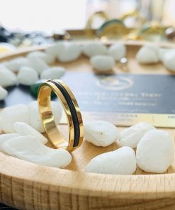 Nhẫn lông voi làm tay 1 sợi đơn giản