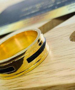 Nhẫn nam làm tay 2 khía vàng lông Voi - Món trang sức phù hợp với bản mệnh của bạn
