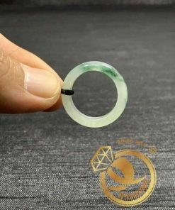 Nhẫn Ngọc Cẩm Thạch Jadeite vân đậm (hàng HẠNG A) - Bảng bo 5mm phong thủy