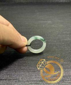 Nhẫn Ngọc Cẩm Thạch Jadeite vân đậm (hàng HẠNG A) - Bảng bo 5mm tinh tế, sang trọng