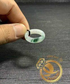 Nhẫn Ngọc Cẩm Thạch Jadeite vân đậm (hàng HẠNG A) - Bảng bo 5mm đẹp