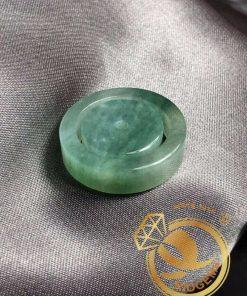 Nhẫn Ngọc Cẩm Thạch Jadeite xanh lá tươi (hàng HẠNG A) - Bảng vuông 6li đẹp nhất