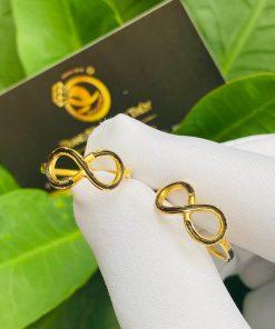 Cặp nhẫn vô cực vàng 18K cho nữ mang ý nghĩa trường tồn, vĩnh cữu