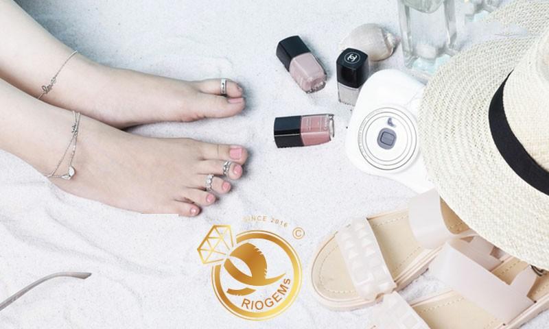 Nhẫn bạc hở đeo ngón chân gia công đẹp