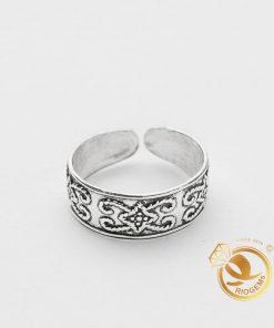 Nhẫn hở đeo ngón chân làm bằng bạc ta